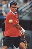 khrbaty Удар слева двумя руками в большом теннисе